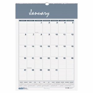 Recycled Bar Harbor Wirebound Monthly Wall Calendar, 8 1/2 x 11, 2017