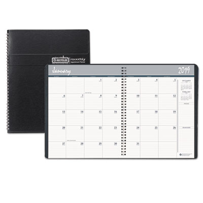 100% Recycled Two Year Monthly Planner with Expense Logs, 6 7/8 x 8 3/4, 2018