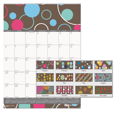 100% Recycled Bubbleluxe Wall Calendar, 12 x 16 1/2, 2018