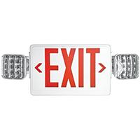 Howard HL02143RW Combination Emergency Exit Light, 120/277 VAC, LED, 5.4 W