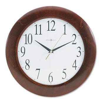 "Corporate Wall Clock, 12-3/4"", Cherry"