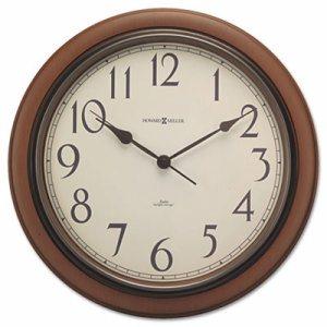 "Talon Auto Daylight-Savings Wall Clock, 15 1/4"", Cherry"