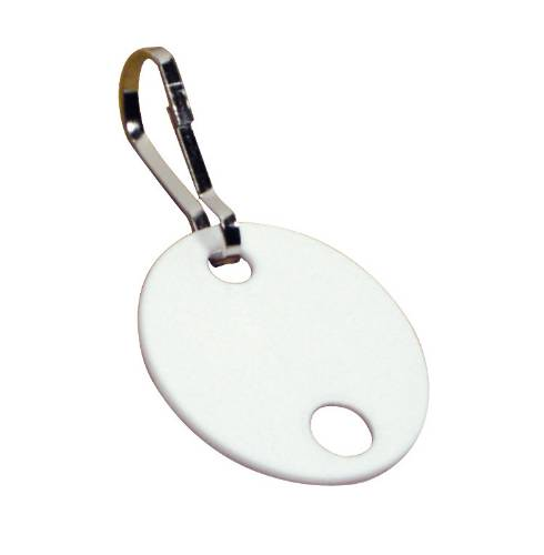 "HPC HEAVY-DUTY FIBER TAGS WITH KEYCLIP 1-3/4"" DIAMETER"