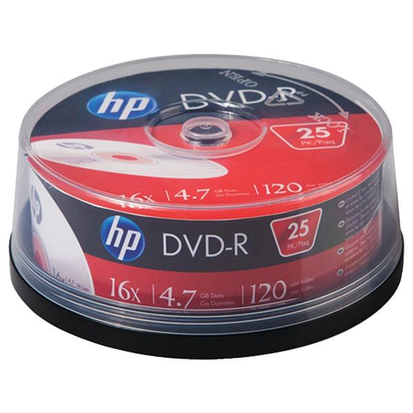 HP DM16025CB 4.7 16x DVD-Rs, 25-ct
