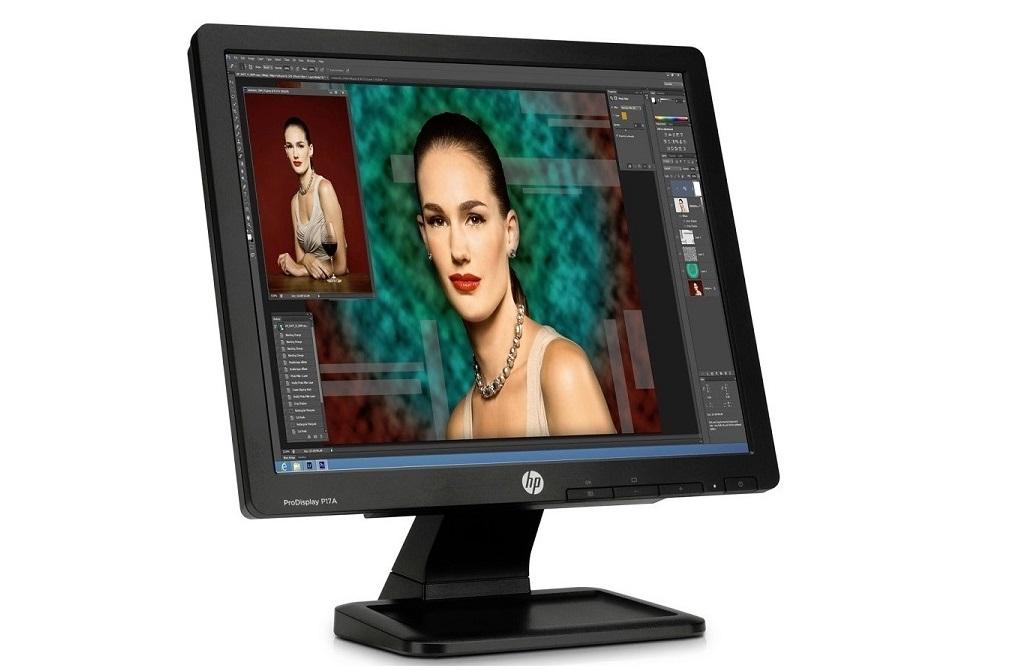 "17"" HP Prodisplay P17A 1280x1024 VGA Square LED Monitor F4M97A8#ABA"