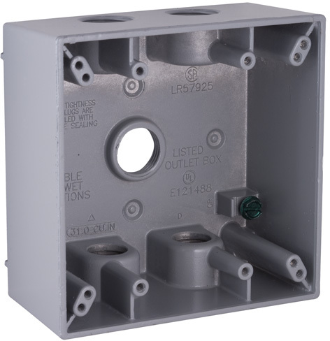 5337-0 GR TWO GANG OUTDOOR BOX