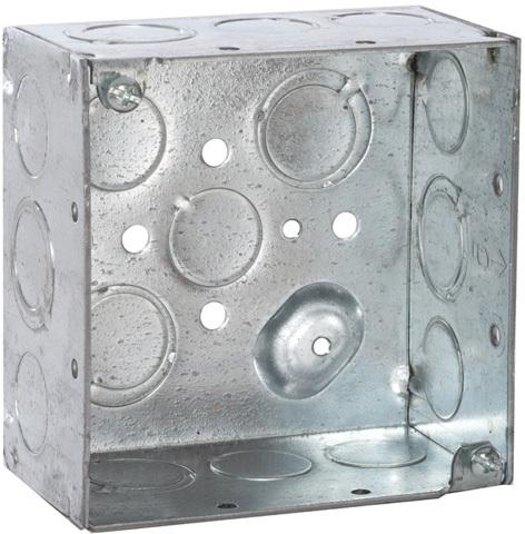 8232 4 IN. SQ 2 1/8 IN. DP WELDED BOX
