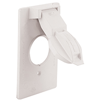 Bell Raco 5155-6 Round Opening Weatherproof Device Cover, 1-13/32 in Dia x 4-9/16 in L, White
