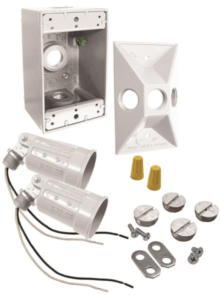Bell Weatherproof 5818-6 Floodlight Kits, Weatherproof, White