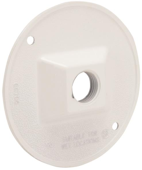 1/2 ROUND OUTLET COVER WHITE