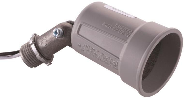 Bell Raco 5606 Lampholder, 75 - 150 W, Par38, Gray, Die Cast Zinc