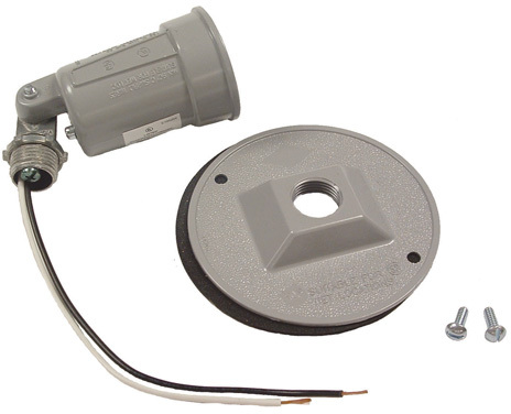 Bell Raco 5624 Combination Weatherproof Lampholder, 75 - 150 W, Par38, Gray, Metal