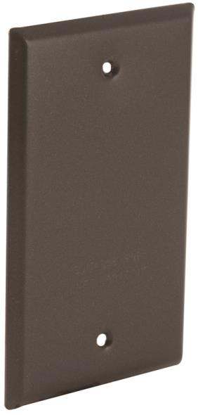 Bell Raco 5173-2 Blank Weatherproof Device Cover, 4-17/32 in L x 2-25/32 in W, Bronze, Metal