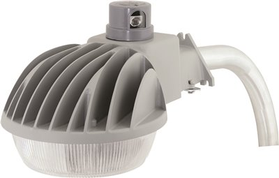 HUBBELL LIGHTING� LED DUSK-TO-DAWN MULTIPURPOSE FIXTURE, 40 WATTS, 120 VOLTS, 5000K, ARM INCLUDED