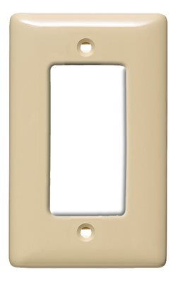 DECORATOR 1 GANG WALL PLATE IVORY