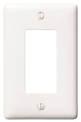 DECORATOR 1 GANG WALL PLATE WHITE