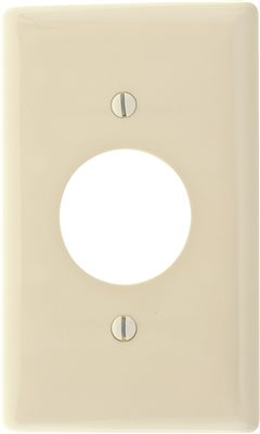 WALLPLATE 1 GANG RECEPTACLE WHITE