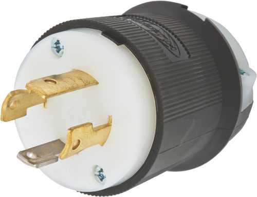 HUBBELL INSULGRIP� TWIST-LOCK� GENERATOR PLUG, 3 POLE 4 WIRE, 30 AMP, 125/250 VOLT, NEMA CONFIGURATION L14-30P