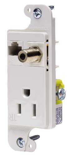 JLOAD MM OUTLET 15A TR IVORY