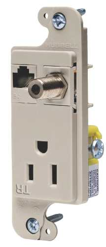 JLOAD MM OUTLET 15A TR ALMOND