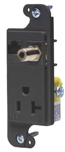 JLOAD MM OUTLET 20A TR BLACK