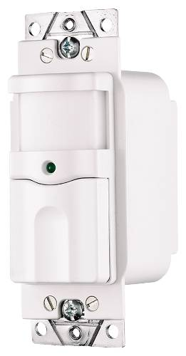 OCCUPANCY SENSOR 1 POLE 500 WATTS INCANDESCENT ON AND OFF ILLUMINATED WHITE