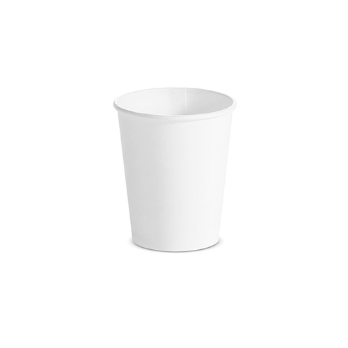 Single Wall Hot Cups 8 oz, White, 1,000/Carton
