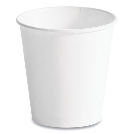 Single Wall Hot Cups, 10 oz, White, 1,000/Carton