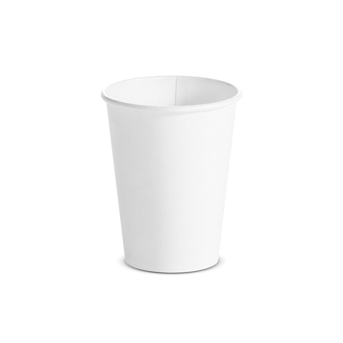 Single Wall Hot Cups 12 oz, White, 1,000/Carton