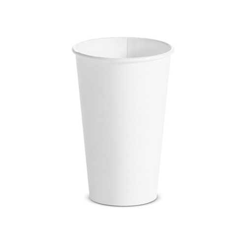 Single Wall Hot Cups, 16 oz, White, 1,000/Carton