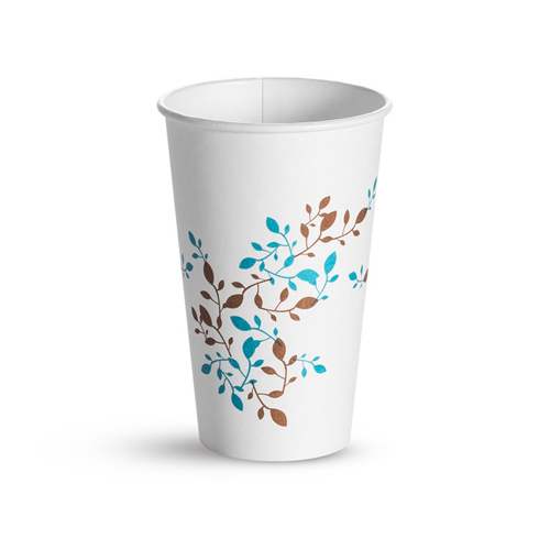 Single Wall Hot Cups 16 oz, Vine, 1,000/Carton