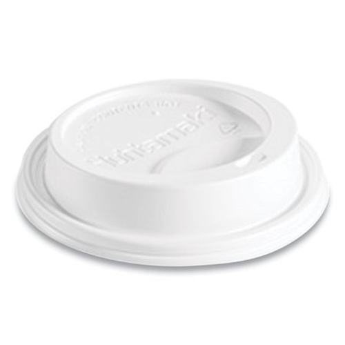 Hot Cup Lids, Fits 10-24 oz Hot Cups, Dome Sipper, White, 1,000/Carton