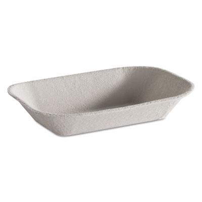 Savaday Molded Fiber Food Tray, Beige, 7x5, 250/BG, 4 BG/CT