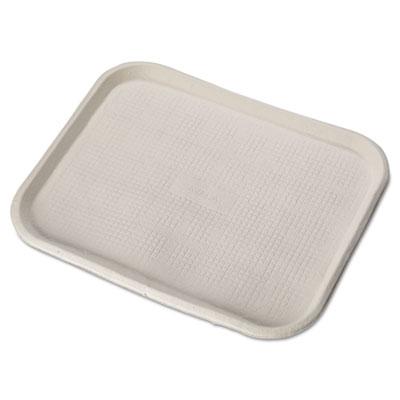 Savaday Molded Fiber Food Trays, 14 x 18, White, Rectangular, 100/Carton