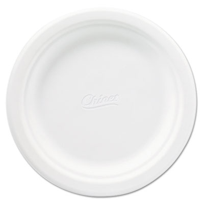 Classic Paper Plates, 6 3/4 Inches, White, Round, 125/Pack