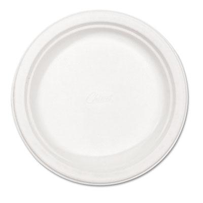"Paper Dinnerware, Plate, 8 3/4"" dia, White, 500/Carton"