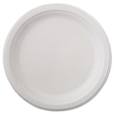 "Classic Paper Dinnerware, Plate, 9 3/4"" dia, White, 125/Pack, 4 Packs/Carton"