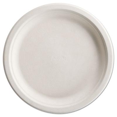 "PaperPro Naturals Fiber Dinnerware, Plate, 10 1/2"" Round Natural 125/PK 4 PK/CT"