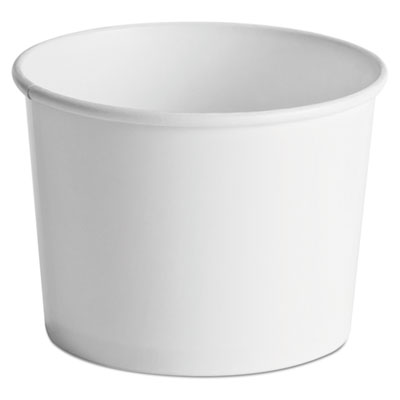 Paper Food Containers, 64oz, White, 25/Pack, 10 Packs/Carton