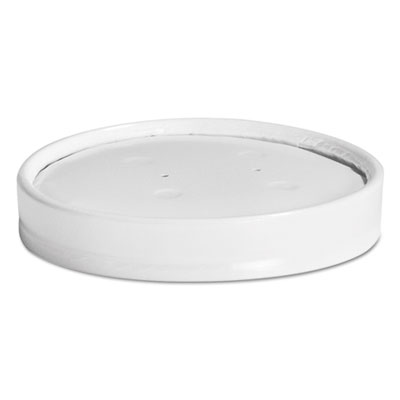 Vented Paper Lids, 8-16oz Cups, White, 25/Sleeve, 40 Sleeves/Carton
