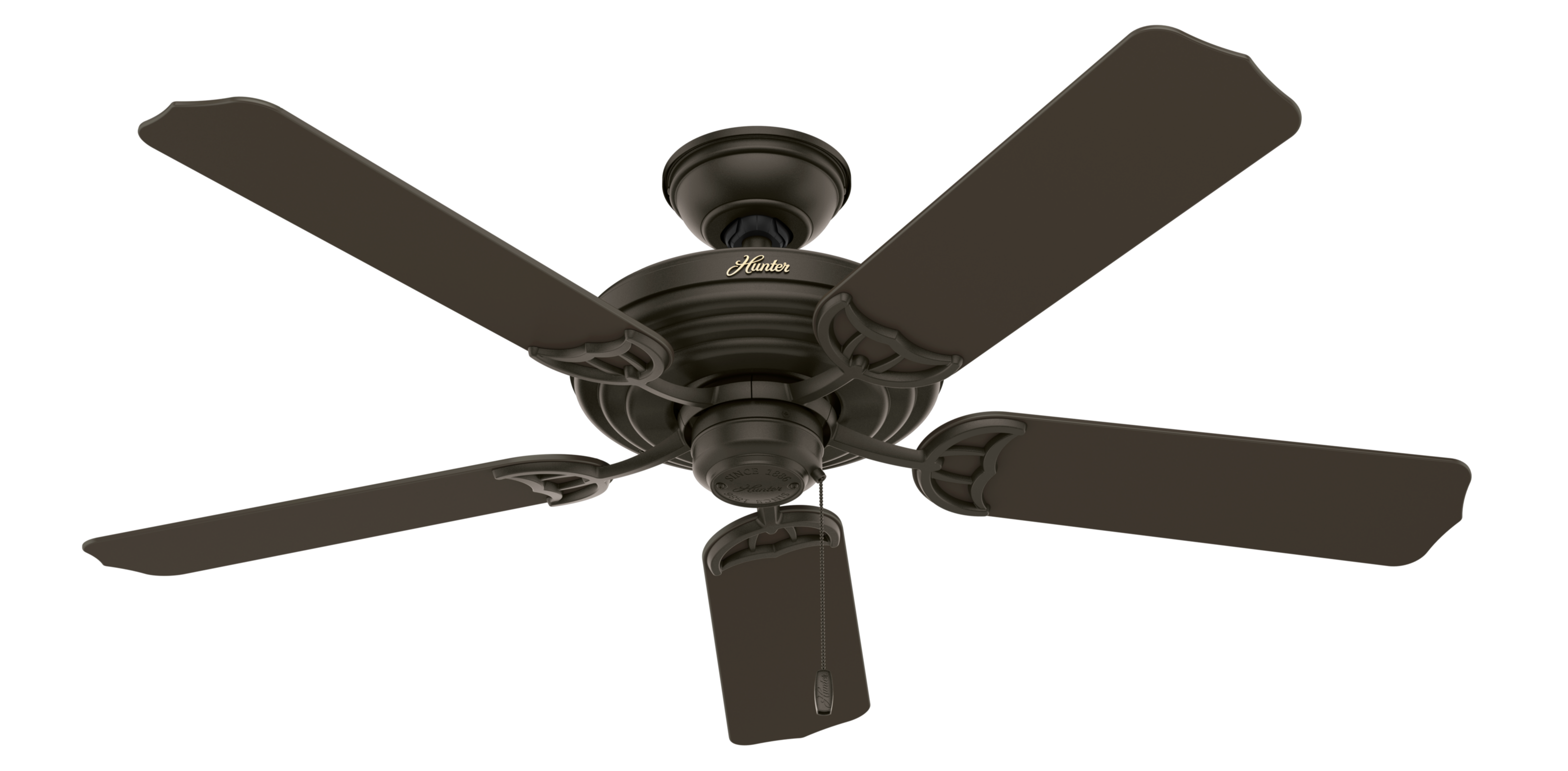 Hunter Sea Air 53061 Ceiling Fan, 5498 cfm, 5 Blades, New Bronze Finish