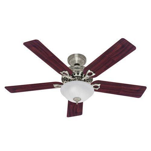 Hunter Astoria 22460 Ceiling Fan, 4696 cfm, 5 Blade, Brushed Nickel