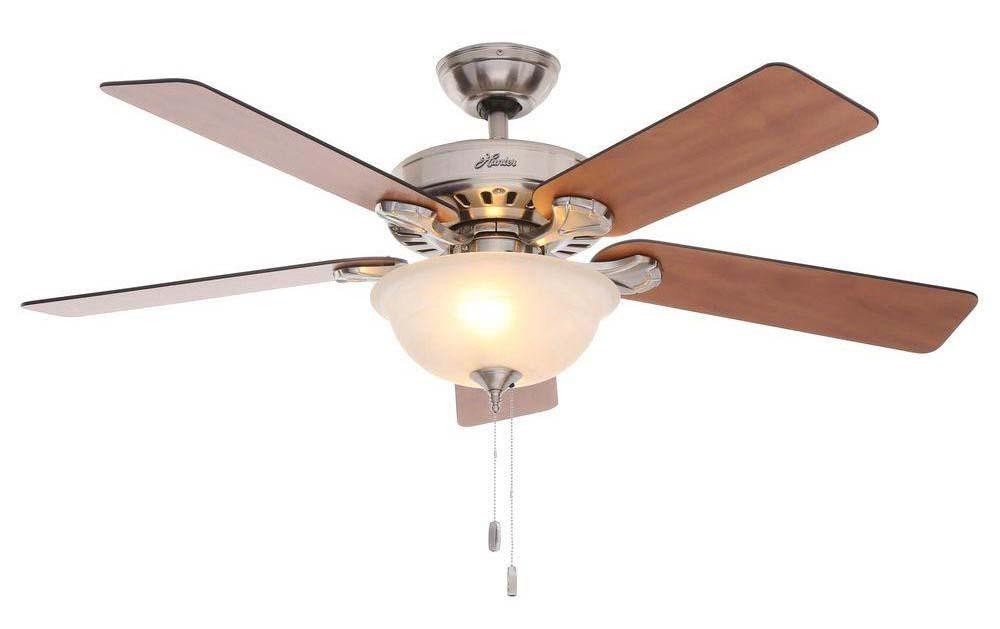 Five Minute Fan Pros Best 28723 Ceiling Fan, 5203 cfm, 5 Blade, Brushed Nickel