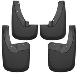 Husky Liners Front and Rear Mud Guard Set 09-19 Dodge Ram Various Models-Black