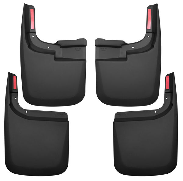 Husky Liners Front and Rear Mud Guard Set 17-2020 Ford F150-Black