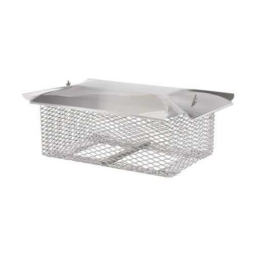"""13"""" X 20"""" Hy-C Stainless Steel Universal Cap with 5/8"""" Mesh - U1320S58"""