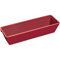 Hyde Tools 09060 Heavy Duty Mud Pan, 12 in L 3-1/4 in T, Plastic, Red