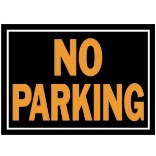 10X14 No Parking Aluminum Sign