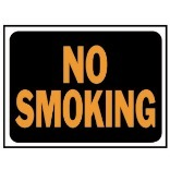3013 9X12 NO SMOKING PLAS SIGN