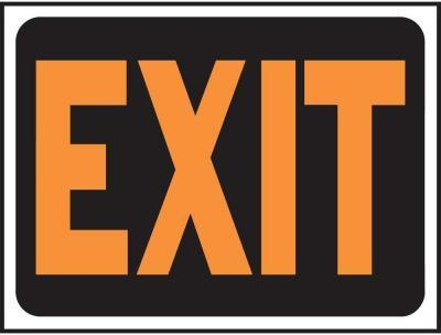 3003 9X12 EXIT PLASTIC SIGN